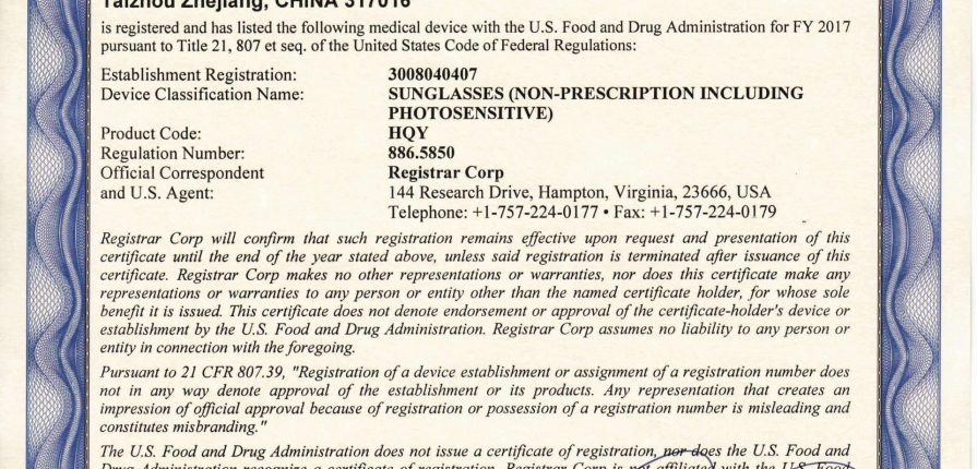 Đăng ký giấy chứng nhận FDA