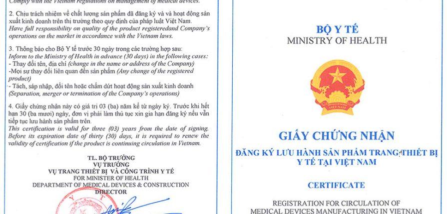 Đăng ký lưu hành trang thiết bị y tế B C D